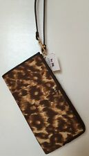 Coach 52099 MADISON ZIPPY Wristlet & Wallet  OCELOT Fits  Iphone 6 Plus