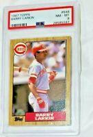 1987 TOPPS  #648 BARRY LARKIN RC ROOKIE HOF PSA 8 REDS BASEBALL CARD