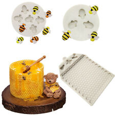 Bee Comb Silicone Mould Cake Decorating Topper Chocolate Baking Mat Border Mold