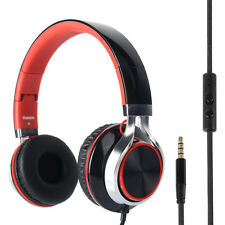RockPapa Adjustable Folding Headphones Headset for Computer iPod MP3/4 Red Black