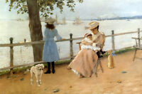 Oil painting William Merritt Chase - Afternoon by the Sea aka Gravesend Bay