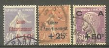 "FRANCE STAMP TIMBRE N°249/51 "" CAISSE D'AMORTISSEMENT 2eme SERIE "" OBLITERES TB"