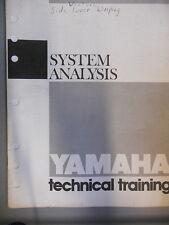 Yamaha Technical Training Service Guide System Analysis