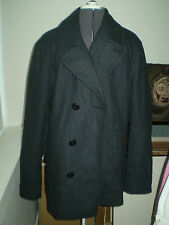 American Eagle Outfitters AEO Men's Wool Peacoat Charcoal XLT/Extra Large Tall