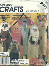 McCall's Sewing Pattern Children's P912 Costume Cat Elephant Owl Rabbit Dog SM-L