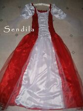 ADULT Plus Size 18 20 22 Red White Mrs Santa Clause Medieval Fancy Dress Costume