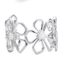 Wholesale 925Sterling Silver Noble Large Four Leaf Flower Bracelet Bangle BB092