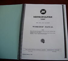 Nash Metropolitan Service Manual 1954 1955 1956 1957 1958 1959 1960 1961