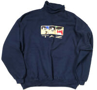 Looney Tunes Vintage 1996 Taz Tazmanian Sweater Turtleneck  Devil Sweatshirt