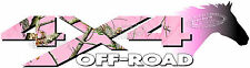 4x4 Off Road PINK CAMO Horse Head Camouflage TRUCK Decal/Sticker CHEVY GMC FORD