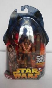 STAR WARS REVENGE OF THE SITH WOOKIEE WARRIOR BATTLE BASH FIGURE TOY NEW SEALED