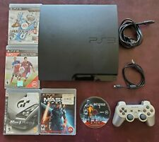 Sony PlayStation 3 Slim 320GB Black Console With 1 Controller & 5 Games