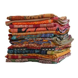 Indian Reversible Bedding Bedspread Coverlet Blanket Decorative Quilt Blanket