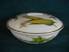 "Royal Worcester Evesham Gold 8 3/8"" Round Covered Serving Bowl with Lid England"