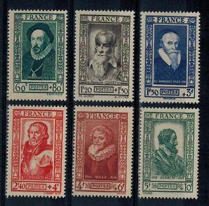 (b26) timbres de France n° 587/592 neufs** année 1943
