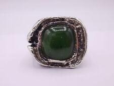 massiver Ring Silber 925 punziert & signiert Gr. 59 Jade Oly Stil
