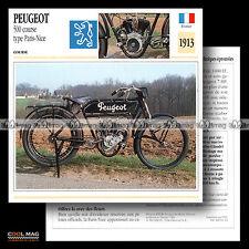 #094.15 PEUGEOT 500 PARIS-NICE COURSE 1913 Racing Fiche Moto Motorcycle Card