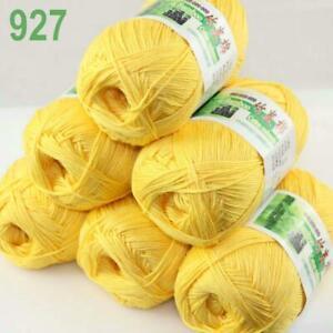 Sale Lot 6SkeinsX50g Soft Bamboo Cotton Baby Wrap Hand Knitting Crochet Yarn 927