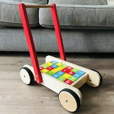 John Lewis Wooden Baby Walker and Bricks Stacking Toy
