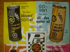 1973 SKI DOO Performance Products RACING Snowmobile Brochure BLIZZARD OIL Sign