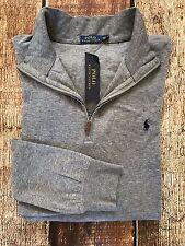 Polo Ralph Lauren Mens Big Tall Half-Zip Pullover Sweater Winter Gray Size 2XB