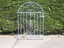 Galvanized bow top garden gate 4 ft tall for 3 ft  opening  L / h hanging