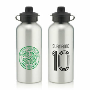 PERSONALISED Celtic FC Gifts - Retro Shirt Water Bottle - Official