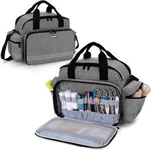 Trunab Medical Supplies Bag, Nurse Bag with Handle and Shoulder Strap for Home H