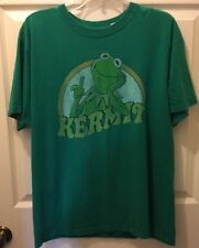 Kermit The Frog The Muppets Puppets Classic Style Cartoon Green T Shirt Large