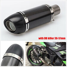 100% real carbon fiber Slip-On motorcycle exhaust muffler with DB killer 36-51mm
