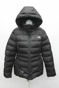 THE NORTH FACE Ladies Black Zip Up Faux Fur Insulated Hooded Jacket Size M