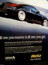 """2007 HERTZ Nissan 350 Z-Z One You Get-8.5 x 10.5""""-Original Print Ad"""