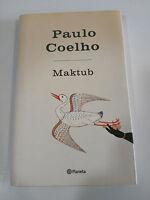 PAULO COELHO MAKTUB LIBRO TAPA DURA PLANETA