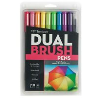 Tombow Dual Brush Pen Art Markers - Brights Palette 10-Pack