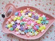 20pcs Mix Pastel Colour Star Beads Kawaii Acrylic Jewellery Bracelet Craft DIY