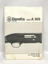 1989 Beretta A 303 Semi-Auto Shotgun Vintage Original Factory Owner's Manual