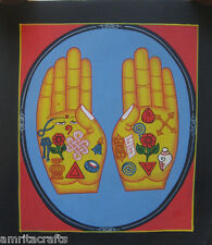 Tibetan Buddhism Hands of Buddha with Auspicious Signs Thangka Painting Nepal