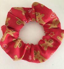 Handmade Christmas Gingerbread Man Hair Scrunchie Women/Girl Accessories