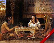 EGYPTIAN CHESS PLAYERS GAME FINE ART PAINTING REAL CANVAS GICLEE 8X10PRINT