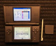 Nintendo DS Lite Handheld Console - Onyx Black W/ Pokémon Pearl - No Charger