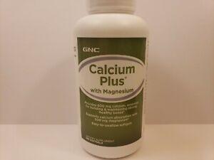 GNC Calcium Plus With Magnesium Bone Support 180 Softgels exp-2022-2024