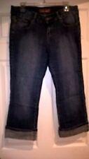 Boom Boom Sequin Embellished Denim Capri Jeans Sz9 EUC