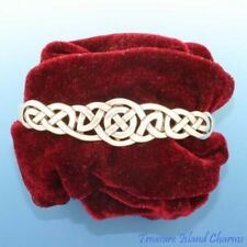 CELTIC ENDLESS KNOT Heavy .925 Solid Sterling Silver Cuff Bracelet 20.5 Grams
