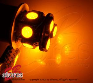 Set of 2pcs Amber Front Side Marker 9 SMD LED Light Bulb 2057 3496- 1157 1 Pair