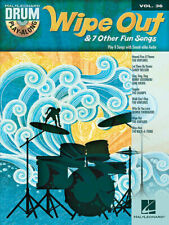 Wipe out & 7 Other Fun Songs Drum Play-along Vol 36 Pop Sheet Music Book CD