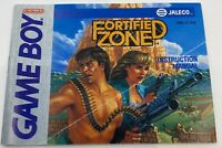 Fortified Zone Nintendo Game Boy Instruction Manual Booklet