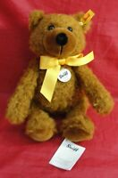 "VTG STEIFF CHARLY TEDDY BEAR ORIGINAL GROWLER 30 W/TAGS 12"" TALL #000973 MOHAIR"