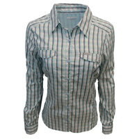 Columbia Women's Silver Ridge Lite Blue Gingham Plaid L/S Shirt (Retail $55)490