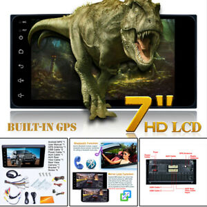 """7"""" 2DIN HD Car Stereo MP5 Player Bluetooth Touch w/ Rear Camera WIFI GPS"""