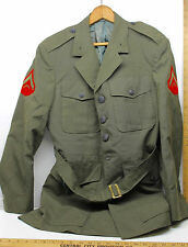Vintage WWII U.S. Marine Corps Private Dress Jacket Size 40R Tropical Defense ++
